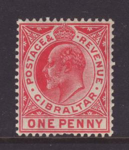 1906 Gibraltar 1d Mounted Mint SG67