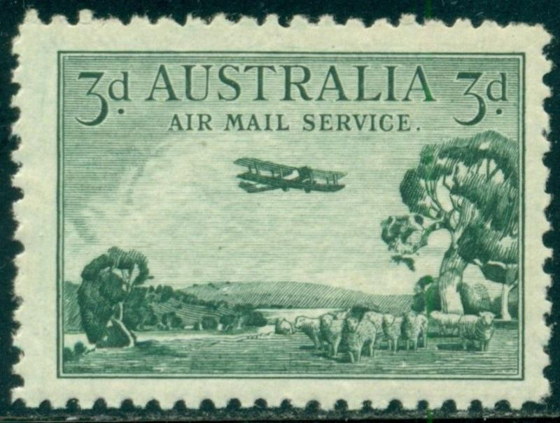 Australia Scott #C1 MNH Airplane Over Bush Lands CV$14+