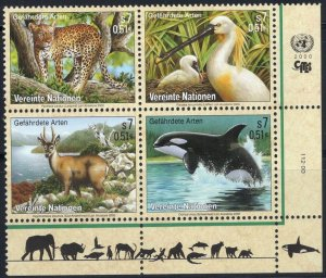 2000 UN Vienna 303-306VB Sea fauna 5,00 €