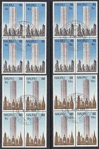 NAURU 1978 Provisional overprints set of 4 - fine used blocks of 4.........28040