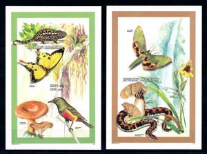 [95926] Madagascar 1998 Butterflies Mushrooms Snake Cameleon Imperf. Sheet MNH