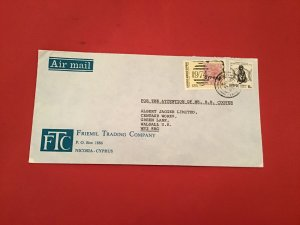 Cyprus 1980 Friemil Trading Co Nicosia  Air Mail  stamp cover R36202