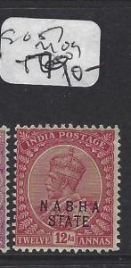 INDIA  NABHA   (P2508B)   KGV   12A  SG  57       MOG
