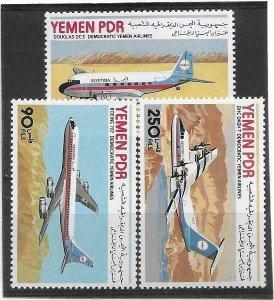 1981   YEMEN    -  S.G.   253 / 255  -  DEMOCRATIC YEMEN  AIRLINES  -  MHN