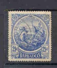 Barbados 131 1916 2 1/2 d seal of Colony stamp used