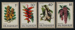 St Vincent 337-40 MNH Flowers