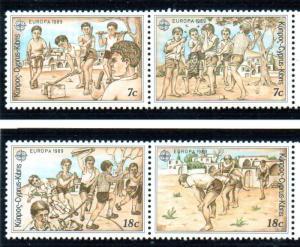 Cyprus Sc 722-5 1989 Europa stamp set mint NH