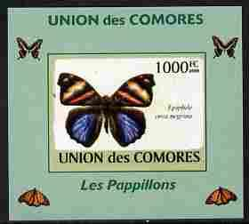 Comoro Islands 2009 Butterflies #1 individual imperf delu...