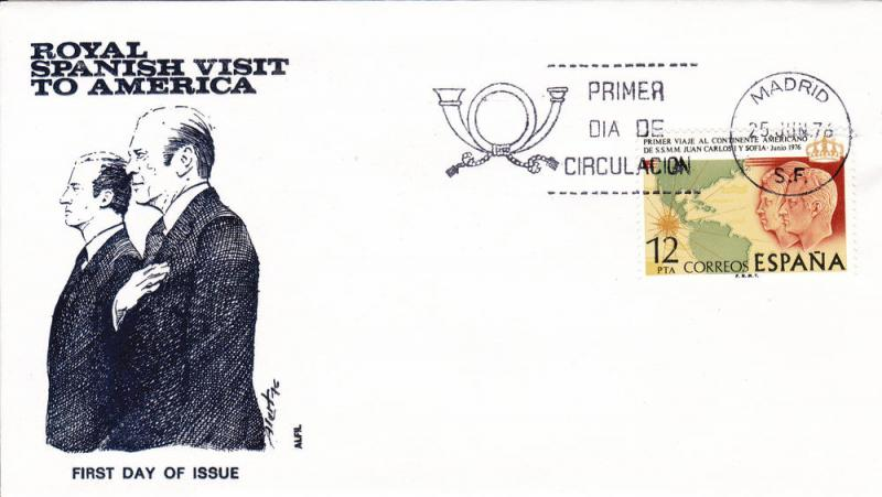 Spain #  1958, American Visit 1st day cover