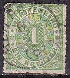 Wurttemberg 47 1869 Numeral Used HR