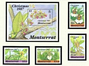 Montserrat 658-62 MNH 1987 Christmas