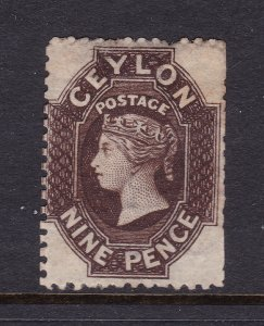 Ceylon a MH 9d QV from 1861