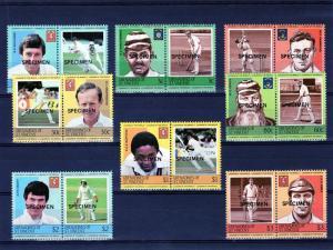 St Vincent Grenadines 1984 Cricketers #1 (16) Specimen MNH