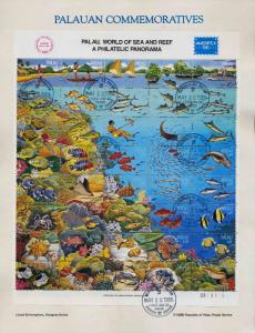 Palau 103 on Souvenir Page - Sea & Reef, Marine Life, Boats, Coral, Shells