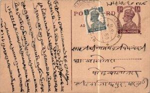 India Postal Stationery George VI 1/2A Balotra cds