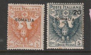 Italian Somalia  x 2 MH red cross from 1916