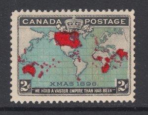 Canada Sc 86b, MLH. 1898 2c Map, Deep Blue Oceans, fresh, bright, F-VF