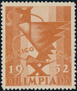 Stamp Label Mexico 1932 Poster Cinderella Olympics Olimpiada MNH