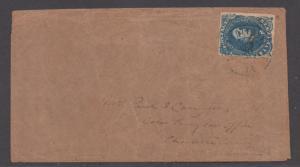**CSA Cover, SC# 4, Charlottesville, VA, 6/20/1862