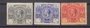 J26602 JLstamps 1921 bermuda mh #74-5,77 kgv
