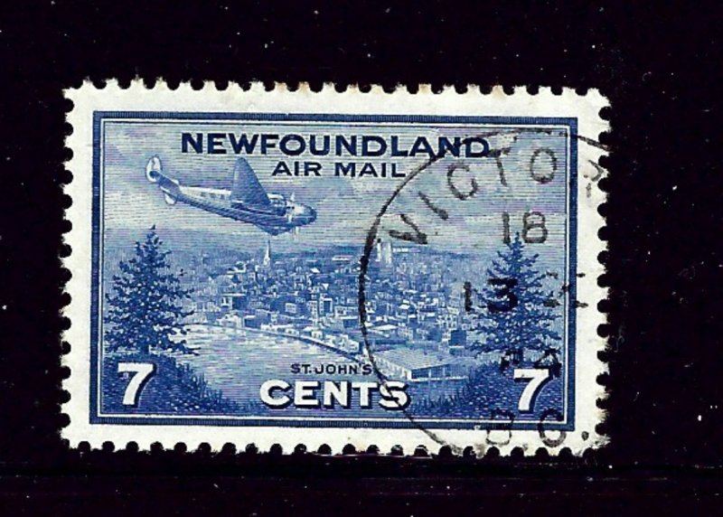Newfoundland C19 Used 1943 Plane over St Johns