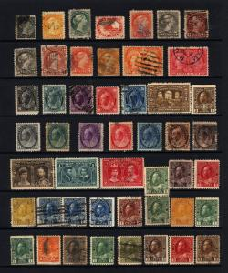 Canada #15-#MR7 1859-1917 M&U Lot 47 items