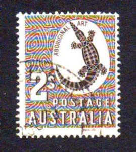Australia 1956 Sc#302 2 Shilling Brown Crocodile FU