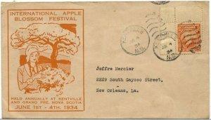 International Apple Blossom Festival 1934 Kentville N. S. Canada cover