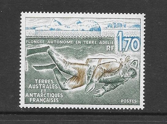 FRENCH SOUTHERN ANTARCTIC TERRITORY #C150    SCUBA DIVER   MNH