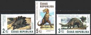 Czech Republic. 1994. 41-43. Dinosaurs. MNH.