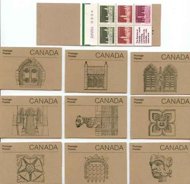 Canada - 1987 50c Parliament Set of 10 Booklets #BK92b Mint