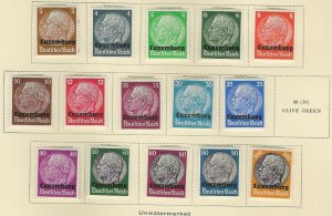 German Occ. Luxembourg N1////// N16 Mint Hinged (Missing N11) (No page) (414129)