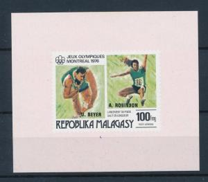 [55782] Madagascar 1976 Olympic games Athletics Overprint MNH Sheet