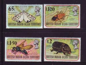 British Indian Ocean Terr Sc 86-9 1978 Insects stamps mint