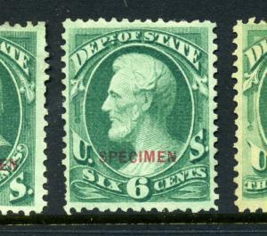 O60S State Dept. Special Printing Specimen Official Stamp (Stock O60-23)