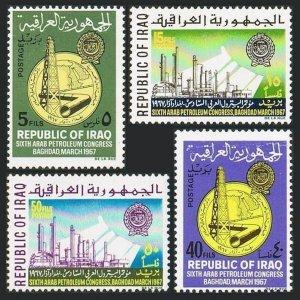 Iraq 427-430,MNH.Mi 476-479. Arab Petroleum Congress,1967.Oil Derrick,Pipeline.
