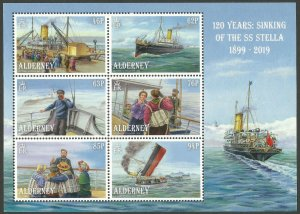 Alderney 2019 MNH Sinking of SS Stella 120 Years 6v M/S Boats Ships Stamps