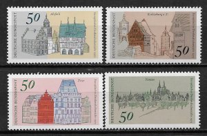 1975 Germany 1196-99 European Architectural Heritage Year C/S MNH