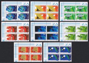 Zaire Space Telecom 8v Top Left Corner Blocks of 4 SG#1163-1170 SC#1121-1128