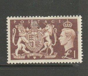 GB GV1 1951 Festival £1 MM SG 512