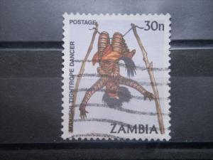 ZAMBIA, 1981, used 30n, Makishi tight rope dancer, Scott 247