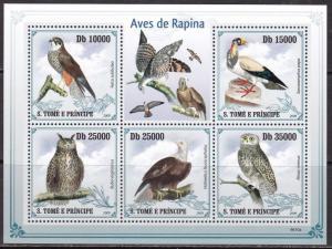 Sao Tome and Principe, Fauna, Birds of Prey MNH / 2009