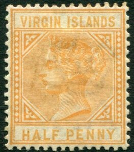 BRITISH VIRGIN ISLANDS-1883-84 ½d Yellow-Buff Sg 26 toned gum AMM V33642