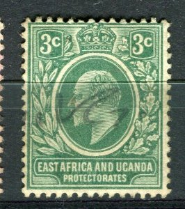 BRITISH KUT; Early 1900s Ed VII postal issue with fiscal cancel on 3c.