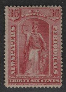 $US Sc#PR18 M/F-VF regummed 1 S.P., Newspaper stamp, Cv. $350