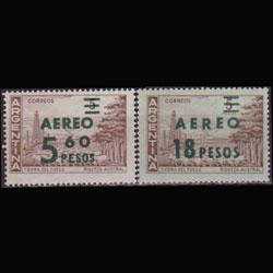 ARGENTINA 1962 - Scott# C82-3 Oilfield Surch. Set of 2 NH