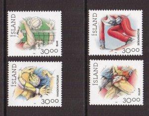 Iceland   #708-711  MNH  1992-1993   sports  4 x 30k