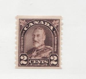 Canada Sc# 182 * MH fine + , 1931 2¢ KGV Arch Leaf coil postage stamp