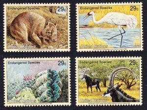 UN New York Birds Wombat Crane Clams Antelope 4v SG#630-633 SC#620-623