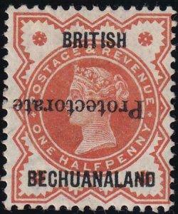 Bechuanaland 1890 SC 53a Mint Inverted Ovpt
